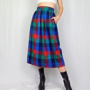 Pendleton vintage wool plaid skirt